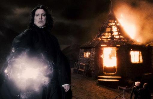 it's Snape, burnin' down the house